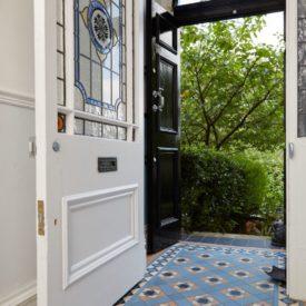 Colorful Vintage floor tile for foyer