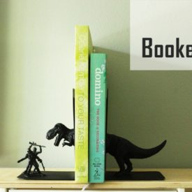 DIY Bookends from Toys
