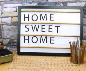 DIY framed message boards with movable letter