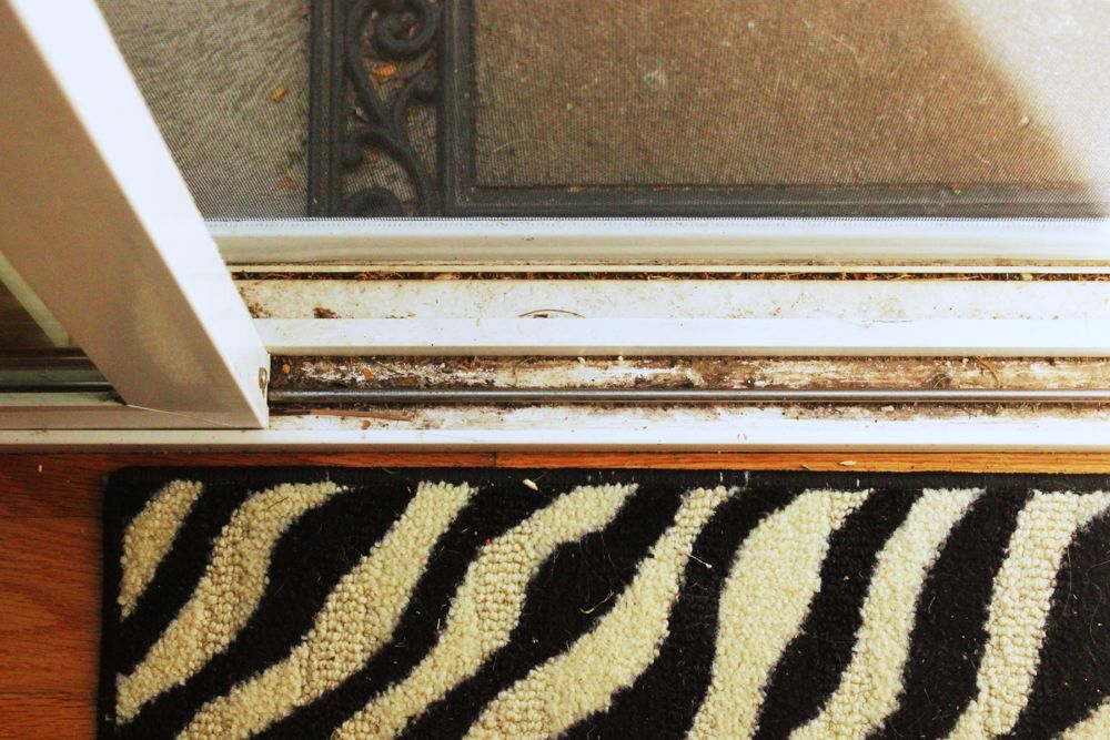 How to Clean Window Tracks to be Squeaky Clean - step 1