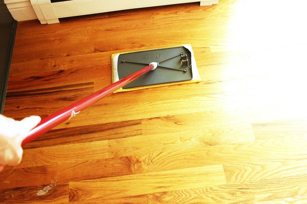 Clean hardwood floors source you can clean many types of for Steam mop concrete floors