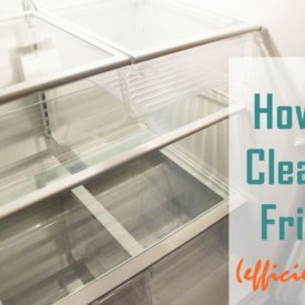 How to clean a refrigerator step by step
