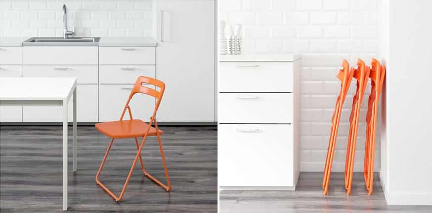 Another Option Is Nisse, Another Simple And Practical Ikea Chair. Like The  Others, It Folds Almost Flat And That Means You Can Neatly Store It In A  Wall ...