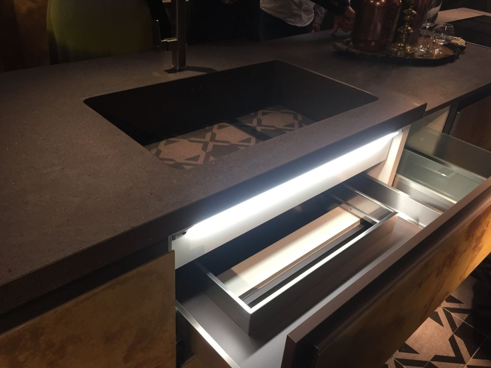 It can also be cool and practical to have drawers that light up when you open them to better see the contents