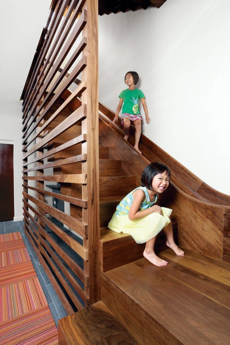 7 Cool Buildings With Stair Slides And Happy Kids