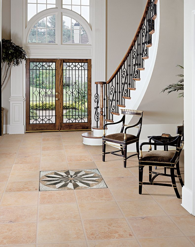 15 floor tile designs for the foyer for Foyer flooring ideas