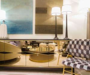 Luxury mirrored furniture for an opulent design