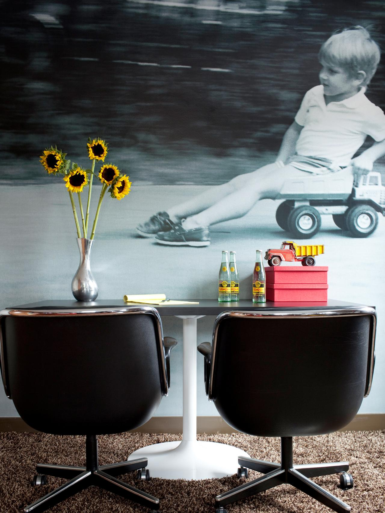 Midcentury modern large picture wallpaper