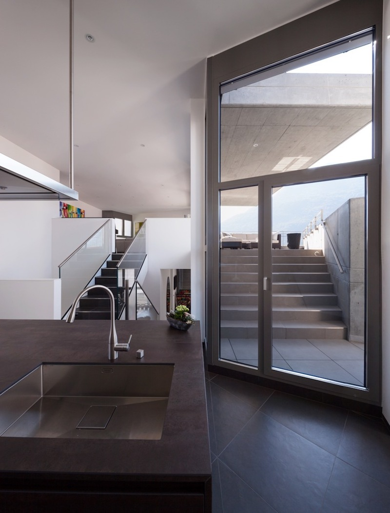 There's easy access to the open terraces from the public areas of the house
