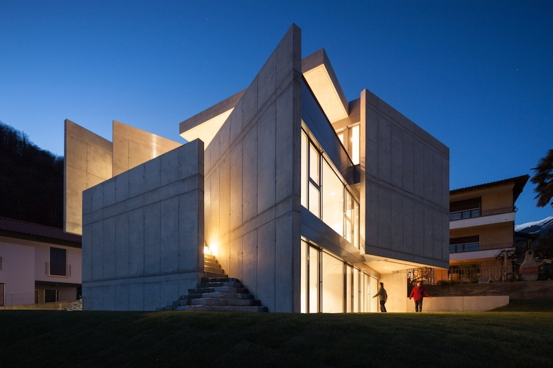 Modern Day Architecture a modern-day fortress house with a timeless design