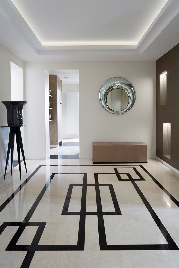 15 floor tile designs for the foyer for White marble floor designs