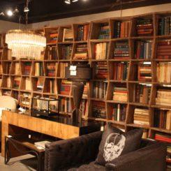 Combine bookshelf units to make a room divider.