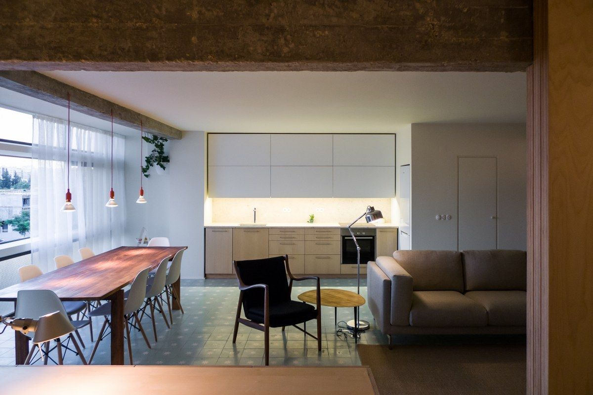Initially the apartment had a much more divided layout typical for older structures