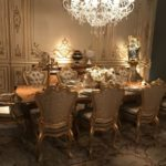 Rococo gold dining room accent furniture