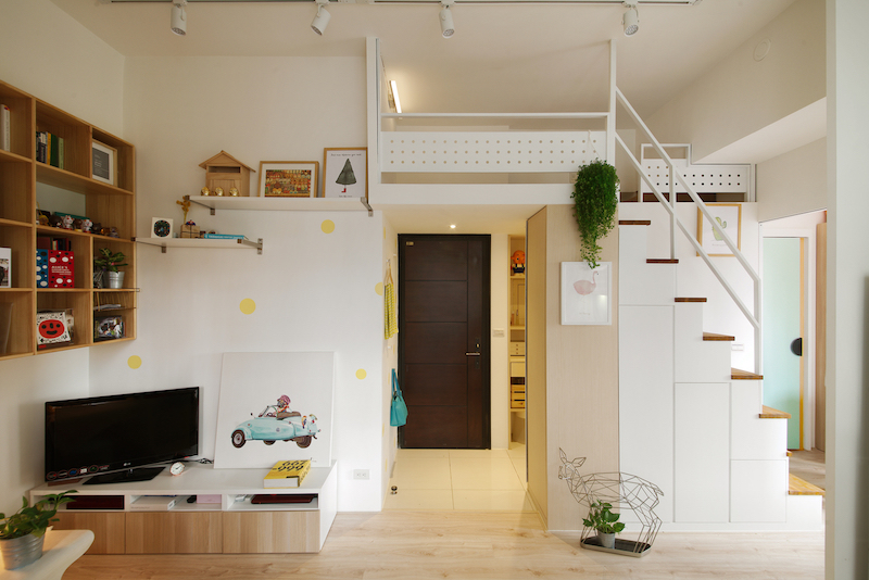 Initially, the apartment had a layout that made it feel smaller than it actually was