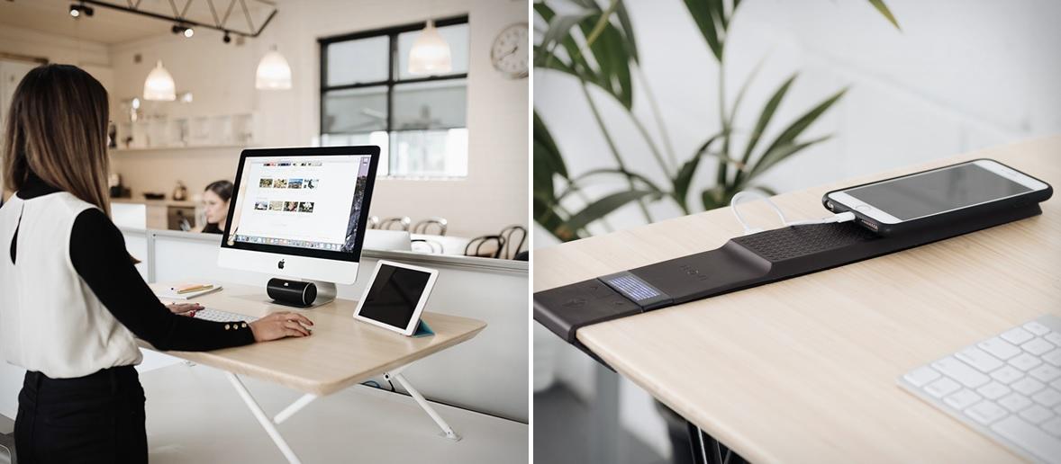 Via Compact L Shaped Desk With Hutch