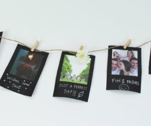 Easy Vintage String Photo Display