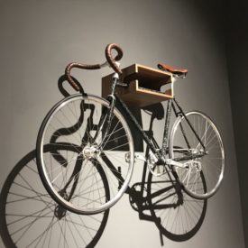 Wall hanging bike - space saving for modern styles