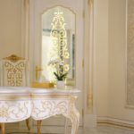 White and gold luxury workspace-desk