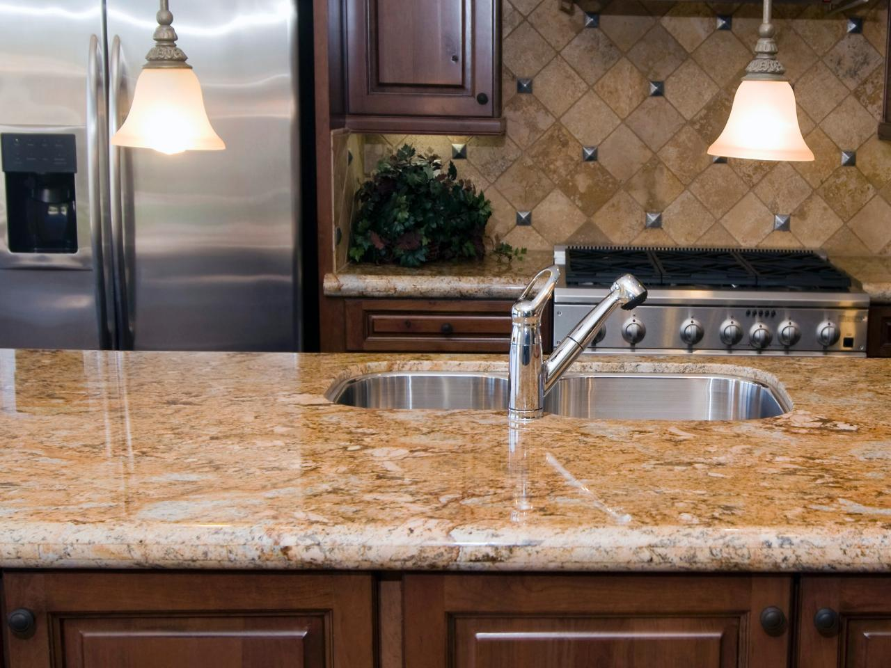 Light Brown Granite : Quartz vs granite countertops pros and cons