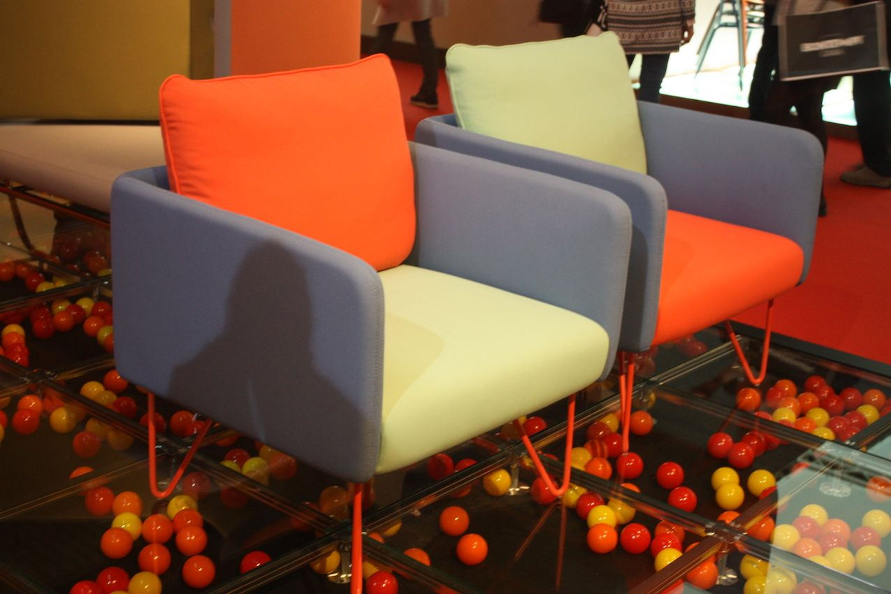 Bright colors are hallmark of mid-century modern design, especially on furniture.