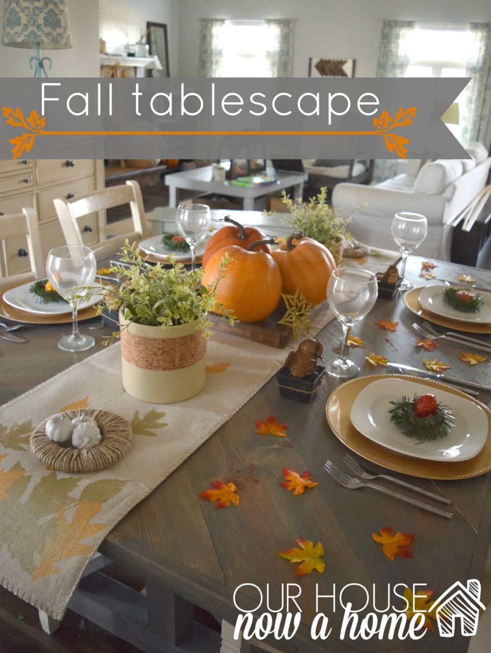 Craft Pumpkin Tablescape
