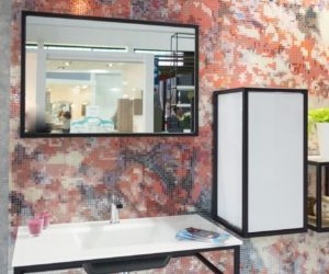 Bathroom Tile design from 0 Glasspoint Krzemien ready made mosaic pattern