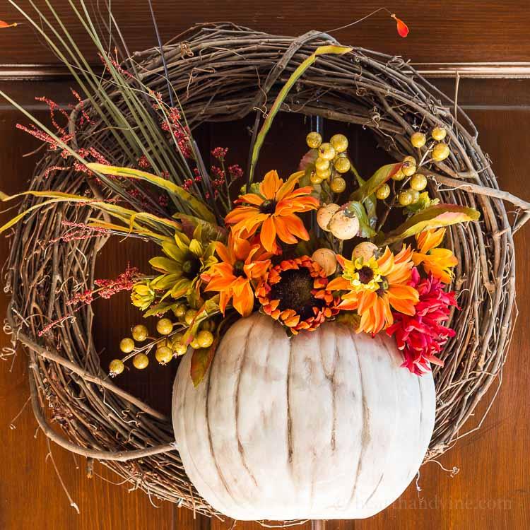 Pumpkin Vase Wreath