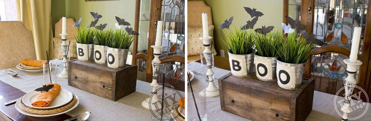 Boo planters for table decor - Scary Halloween Decorations That'll Give You The Jitters