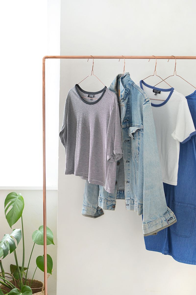 Chic and Practical DIY Clothes Racks That Put Your Wardrobe On Display images 0