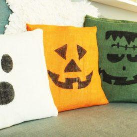 DIY Burlap Halloween Pillows Project