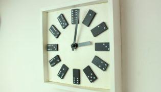 DIY Dotty Domino Wall Clock