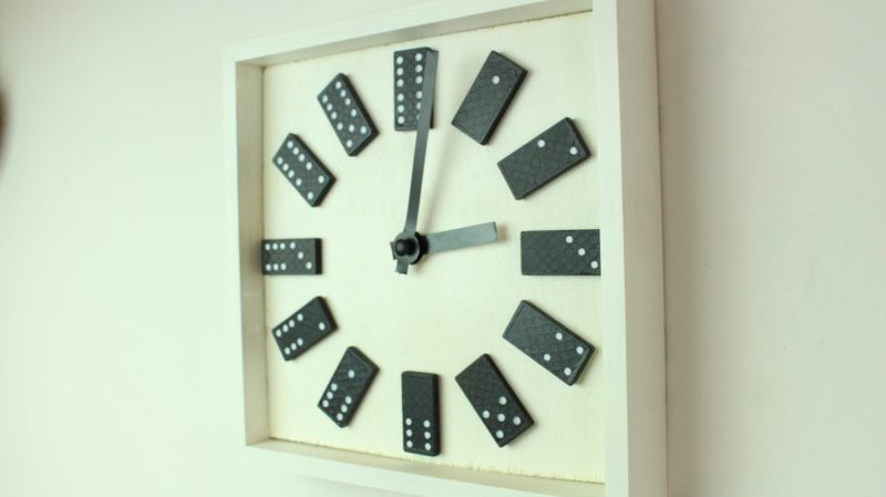 DIY Dotty Domino Wall Clock