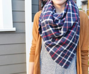 DIY Flannel Blanket Scarf