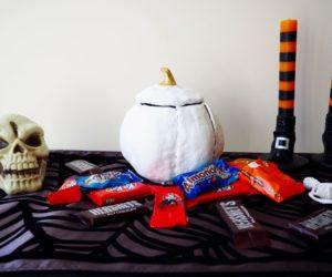 DIY Clay Pumpkin Candy Bowl for Halloween