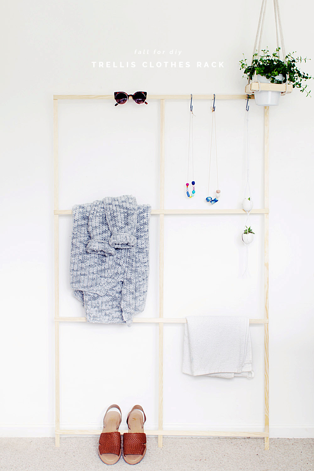 Chic and Practical DIY Clothes Racks That Put Your Wardrobe On Display images 2