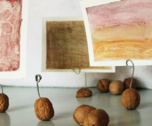 DIY Walnut Photo Holders