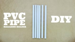 Pretty PVC Pipe Magazine Holder