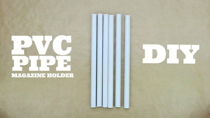 Pretty PVC Pipe Magazine Holder