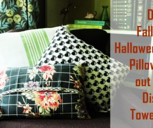 Turn Dish Towels into DIY Halloween Pillows: Super Simple DIY