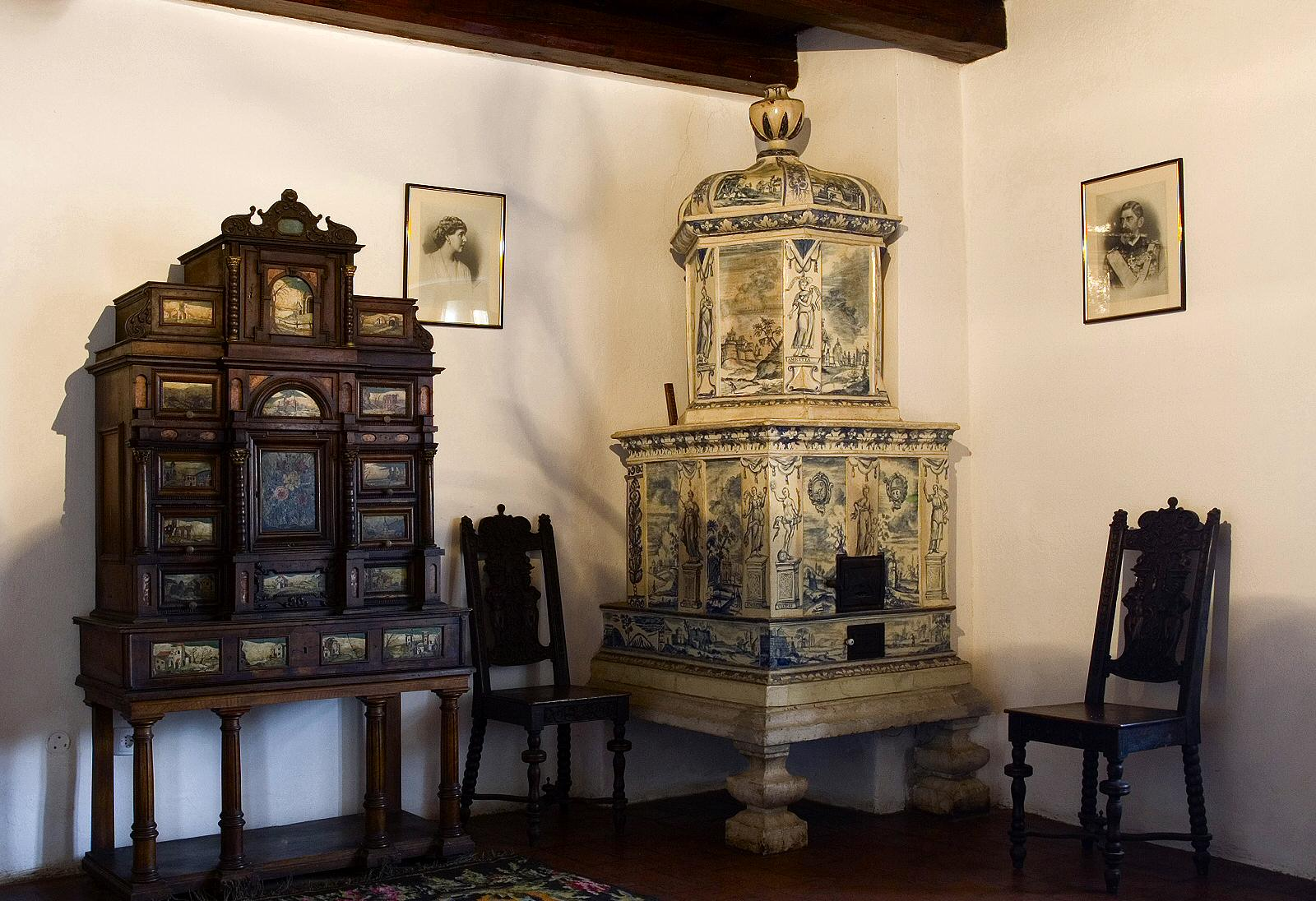 This is one of the corners in King Ferdinand's bedroom, featuring the original furniture