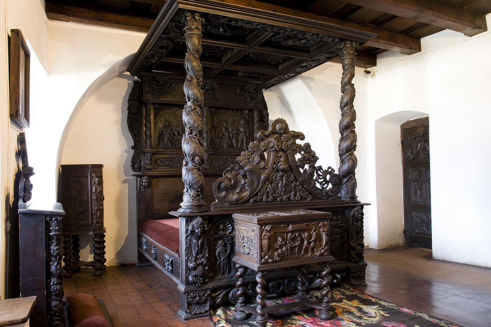 This bed is one of the most impressive furniture pieces in the entire castle