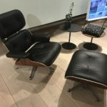 Original vintage Eames lounge chairs command stellar prices.