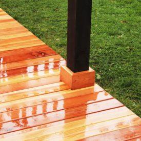Enjoy installing your own redwood deck floor