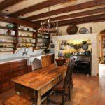 Expose kitchen floor beauty - brick