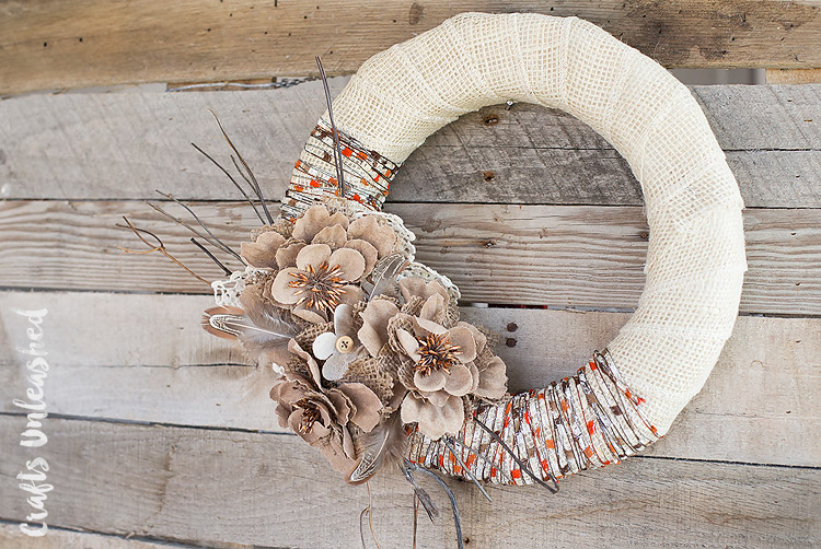 Burlap Wrap Wreath
