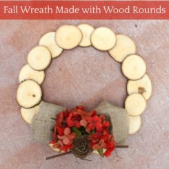 Fall Wreath Made with Wood Round Cuts