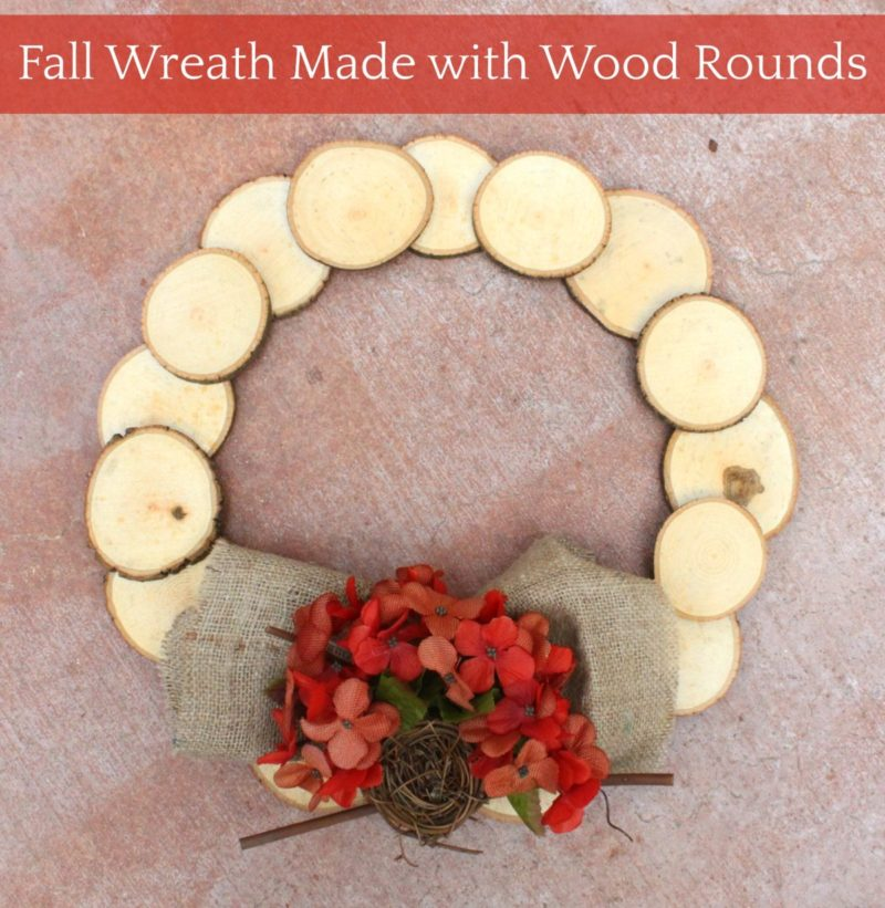 Beautiful Wood Slice Wreath for Fall