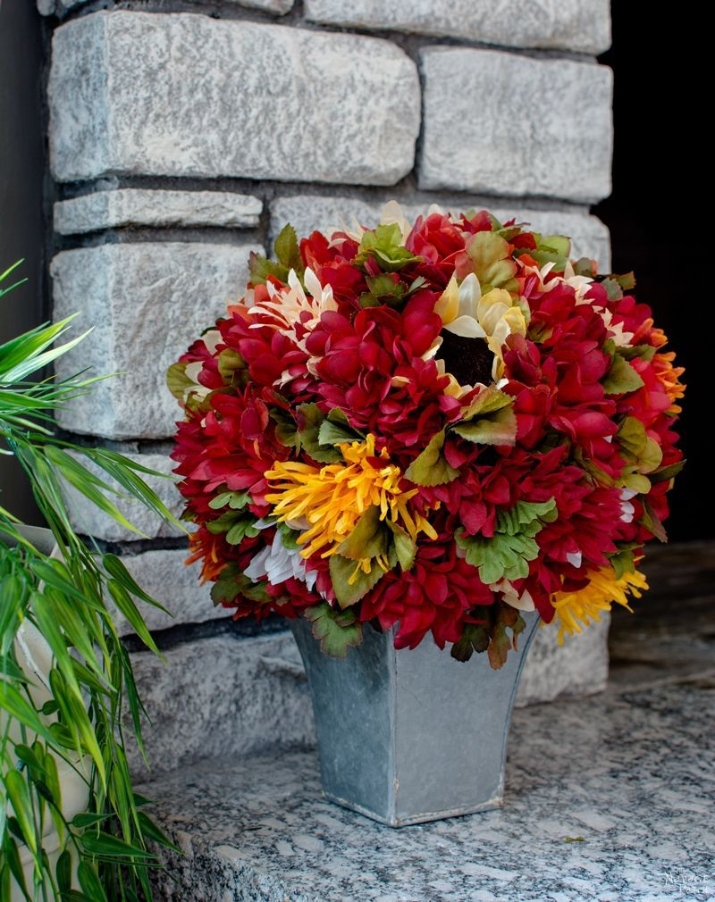 Fall Flower Topiary