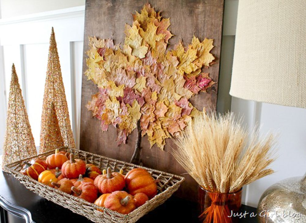 Fall Faux Leaf Collage